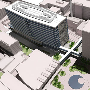 The 12- to 14-story office building, at 4570 Children's Place, will provide about 40,000 square feet of space per floor.