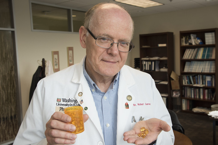Robert M. Carney, PhD, is testing omega-3 supplements to see whether they can relieve symptoms of depression in heart patients.