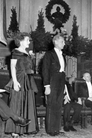 Carl and Gerty Cori at the Nobel Prize ceremony in 1947.