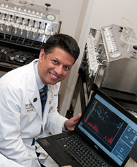 Gastroenterologist C. Prakash Gyawali, MD, studies digestive tract function in those with intestinal disorders, anxiety and depression.
