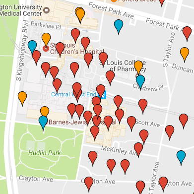 Screenshot: Campus map in Google Maps