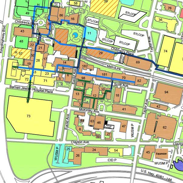 central washington university campus map Maps Directions Washington University School Of Medicine In St central washington university campus map