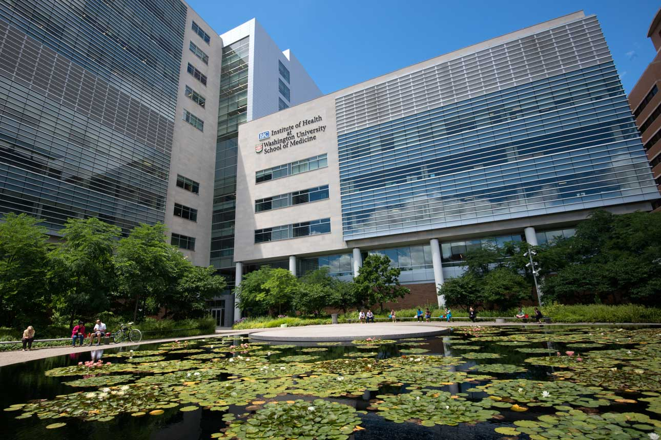 Ellen S. Clark Hope Plaza offers employees a peaceful refuge at the center of the Medical Campus.
