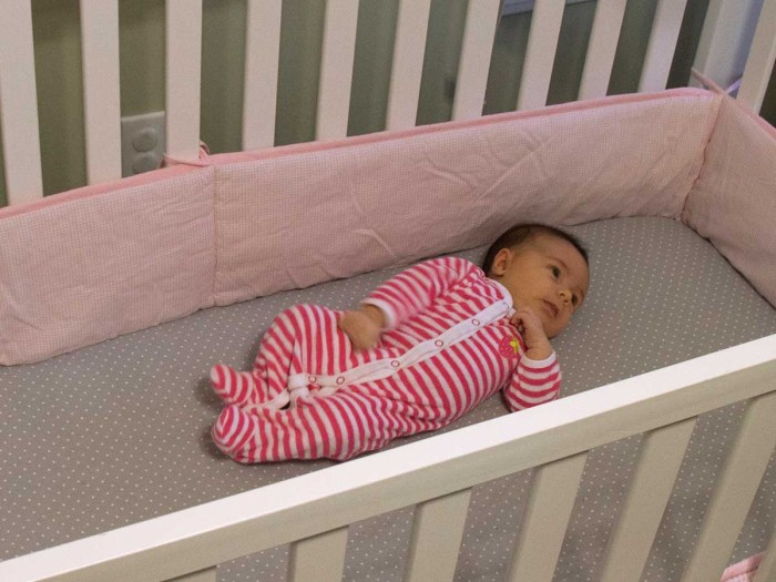 A new study shows that the number of infant deaths and injuries attributed to crib bumpers has spiked significantly in recent years. The findings stem from an analysis by a retired professor of pediatrics at Washington University School of Medicine in St. Louis and two former researchers with the U.S. Consumer Product Safety Commission. The study authors recommend that sale of the items be banned. Photo: Sara Dickherber