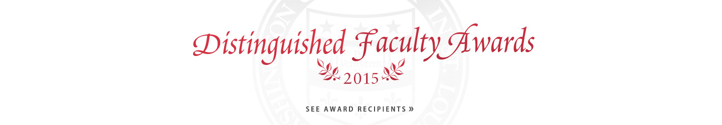 Distinguished Faculty Awards 2015