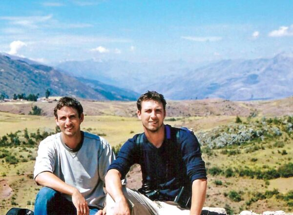 Avid explorers Malachi, left, and Obi Griffith in Peru before starting PhD studies. An earlier gap year helped them process their mother's death.