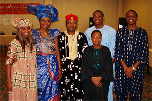 Ikpeama with his family