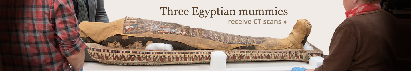 Three Egyptian mummies receive CT scans