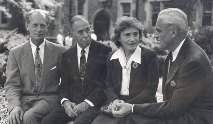 In 1947 Four Washington University Faculty Members Were Nobel Laureates A Record For An American At The Time Pictured Here From Left To Right