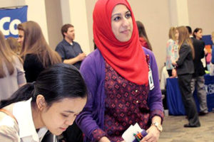 Students learn more about DISC at an info fair