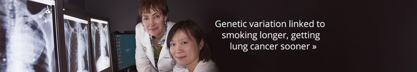 Genetic variation linked to smoking longer, getting lung cancer sooner