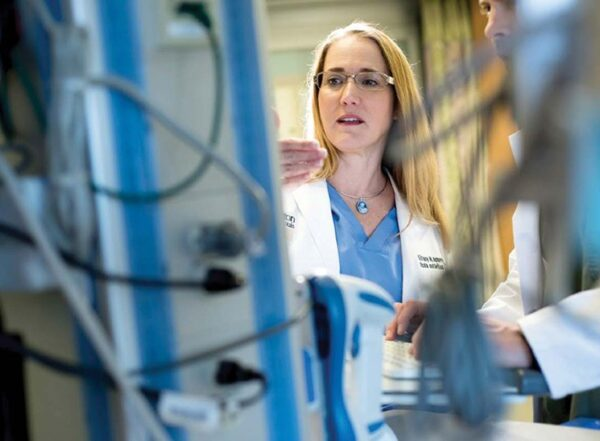 Dr Tiffany Osborn and her colleagues have spent the pandemic tending to people in the COVID-19 intensive care unit.