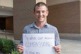 Andrew Linkugel: My White Coat means compassion is now my full-time job.