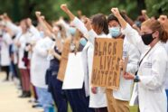 In the wake of George Floyd's death in police custody, students organized a White Coats for Black Lives demonstration this summer on campus. Thousands of faculty, students and staff raised their voices, insisting racism is a pandemic, too.